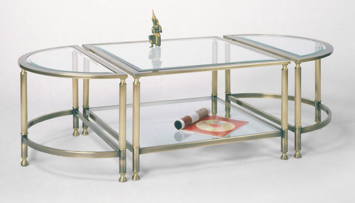 Salontafel Brons Met Glas.Windsor